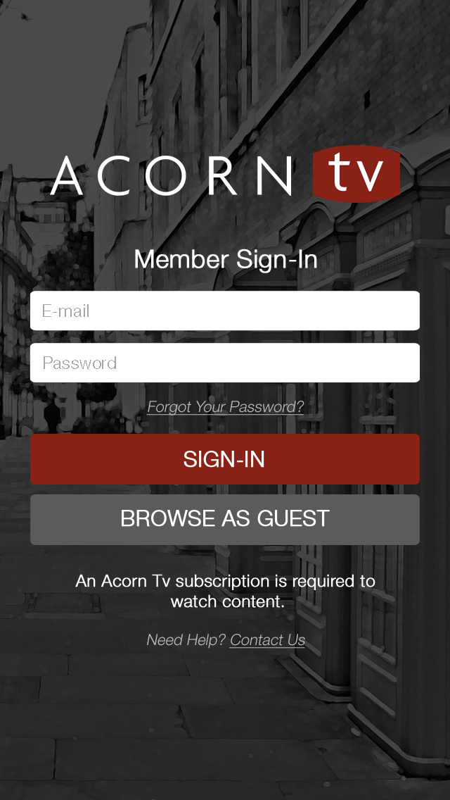 Acorn TV iPhone App Design